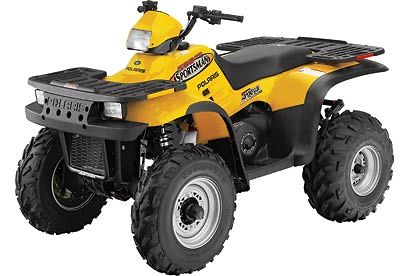 Polaris Sportsman 400 2002 Yellow PS-01 Model ATV windshield
